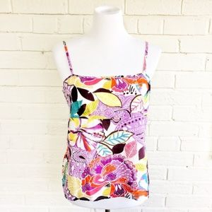 Caslon multicolor floral print strappy tank